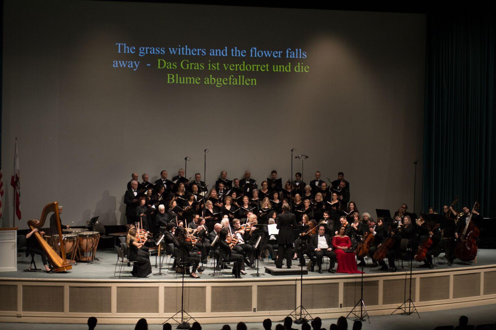 Brahms Requiem Concert 2017